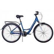 Велосипед HARTMAN Runa NX 19'' 3ск. алюм, планет.втул. синий/розовый(2021)