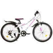 Велосипед Nameless S4000W 13' 7ск, белый/розовый