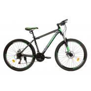 Велосипед Nameless J6700D 17' 21ск, черный мат/зеленый
