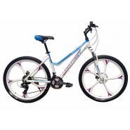 Велосипед HARTMAN Uria (Lady) 19'' 21ск. сине/серый литые