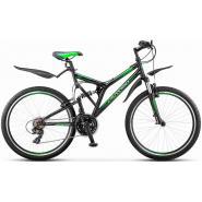 Велосипед STELS Crosswind 21-sp 20'' черный/салатовый артZ010