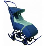 Санки СУ11-3К-СРТ детские ВЕТА  (коляска 4 бол.колеса)