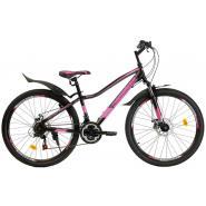 Велосипед Nameless S6400DW 14' 21ск, черный мат/розовый