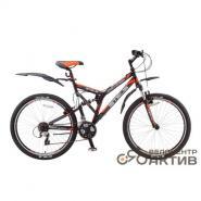 Велосипед Stels Challenger V 20 арт.16 черный/серый/оранжевый