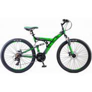 Велосипед Stels Focus MD 21ск 18 черный/зеленый арт.V010