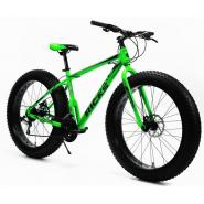 Велосипед KMS Lite HD1010 FATBIKE черно/зеленый
