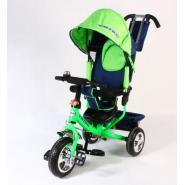 Велосипед 3-х кол Pulse Trike PT-03-032 с крышей зеленый/черный