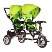Велосипед 3-х кол BA TWINS для двойняшек зеленый