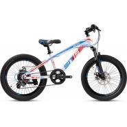 Велосипед PULSE MD100 белый/сине/оранжевый