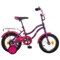 Велосипед NOVATRACK 12'', TETRIS, фмолетовый #125954