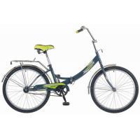 Велосипед NOVATRACK 24'', FS, скл., серо-зеленый