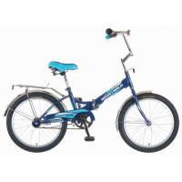 Велосипед NOVATRACK 20'', FS20, скл., синий-голубой