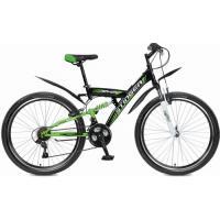 Велосипед Stinger Banzai 18'', 2-х подвес.18ск,черный
