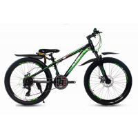 Велосипед KMS Lite MD270 черный/зеленый