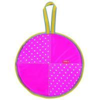 Ледянка 360 верх ПВХ горошек розовый