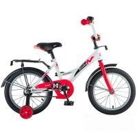Велосипед NOVATRACK 14'', STRIKE, белый-красный