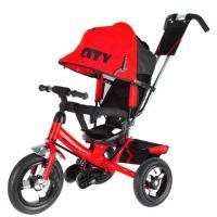 Велосипед 3-х кол JD7BR, надув.колеса 12 и 10, красный