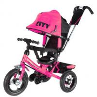 Велосипед 3-х кол JD7BP, надув.колеса 12 и 10, розовый
