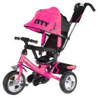 Велосипед 3-х кол JD7PS, ПВХ колеса 10 и 8, розовый