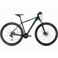 Велосипед CUBE 18 AIM SL 29 black'n'flashgreen 19''