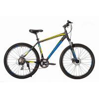 Велосипед HARTMAN Hurrikan Disk 19'' 21ск. алюм, черный сине-желт. мат