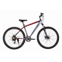 Велосипед HARTMAN Ingword Disk 19'' 21ск. алюм, серо-черно-красн мат