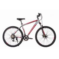 Велосипед HARTMAN Hurrikan Pro Disk 21'' 21ск. алюм, хром красный мат.