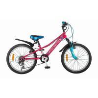 Велосипед NOVATRACK 20'', VALIANT, сталь 6-ск, коралловый