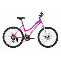 Велосипед HARTMAN Diora Disk 17'' 21ск. алюм, лилово-бело-синий