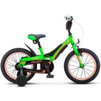 Велосипед STELS Pilot 180 10 зеленый/оранжевый арт.V010