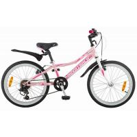 Велосипед NOVATRACK 20'', ALICE,сталь 6ск.V-br розовый