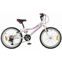 Велосипед NOVATRACK 20'', ALICE,сталь 6ск.V-br белый