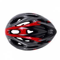 Шлем вело К17, 10 вент. отв M/L (58-65) красный/черный