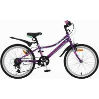 Велосипед NOVATRACK 20'', ALICE,сталь 6ск.V-br фиолетовый
