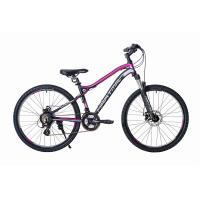 Велосипед HARTMAN Ultragen Pro Disk 15 21ск. алюм, черно-сиреневый мат.