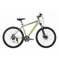 Велосипед HARTMAN Hurrikan NEXT HD Disk 19 24ск. алюм, серо-салатовый мат