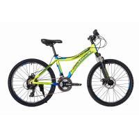 Велосипед HARTMAN Blaze PRO Disk 12,5 21ск,алюм, зеленый неон синий мат.