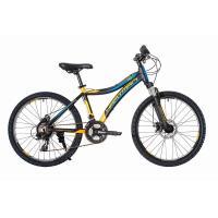 Велосипед HARTMAN Blaze PRO Disk 12,5 21ск,алюм, черно-желт-синий мат.