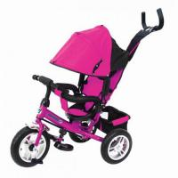 Велосипед 3-х кол P2P розовый, надув. шины 12/10#