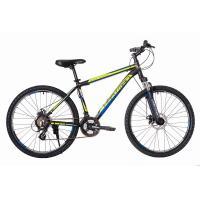Велосипед HARTMAN Black stone Pro Disk 17'' 21ск. алюм, черно-зел.мат