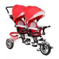 Велосипед 3-х кол BA TWINS для двойняшек красный