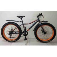 Велосипед PULSE MD2690, FatBike, цвет серо/оранжевый