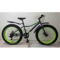 Велосипед PULSE MD2690, FatBike, цвет серо/зеленый