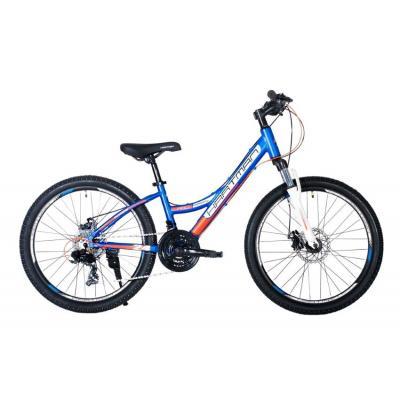Велосипед HARTMAN Rowdy PRO Disk 12,5 18ск, алюм., темн.синий/оранж(2021)