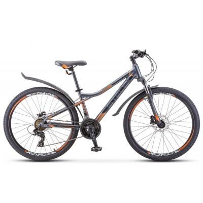 Велосипед Stels Navigator-610 D 14 антрацитовый/оранжевый арт.V010