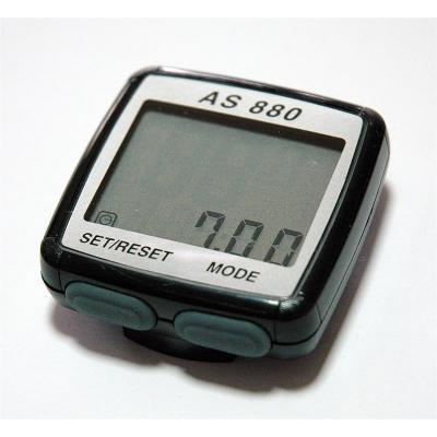 Велокомпьютер AS-880, 11 функций, двухстрочный диспл.