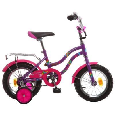 Велосипед NOVATRACK 12'', TETRIS, фиолетовый #125954