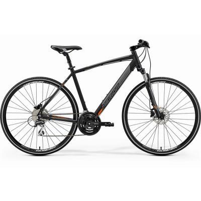 Велосипед Merida Crossway 20-D 55cm L '19 MattBlack/Orange (700C)