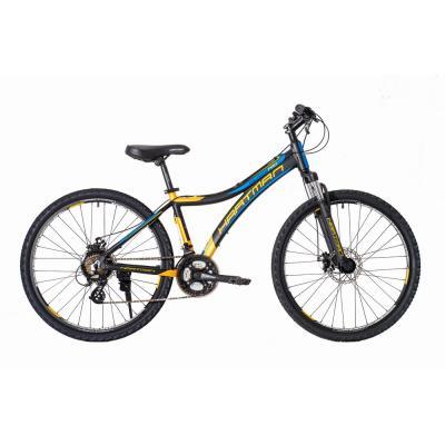 Велосипед HARTMAN Blaze Pro Disk 15 21ск. алюм, черный/оранж(2021)