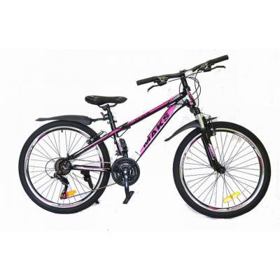 Велосипед TM MAKS, FLIER DISC 13' черно/розовый